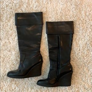 Franco Sarto Black Leather Boots